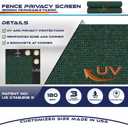 11ft Green Fence Privacy Screen Commercial 95 Blockage Mesh Fabric W/gromment