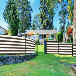 1ft Brown White Fence Privacy Screen Commercial 95 Blockage Mesh W/gromment