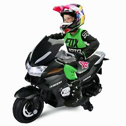 12V Kid Ride On Motorbike Electric Motorcycle for aged 3 8 w Training Wheel New $131.99