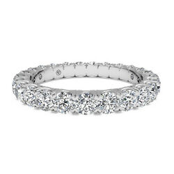 14k Solid White Gold 1.65 Ct Real Diamond Eternity Band For Wedding Size 6 7 8 9