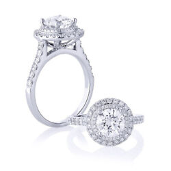 Solitaire Round 1.00 Ct Real Diamond Anniversary Ring 14k White Gold Size 5 6 7