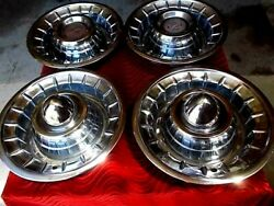 Vtg Cadillac Classic Sombrero Hubcaps Wheelcovers Bullets Barris Custom Lowrider