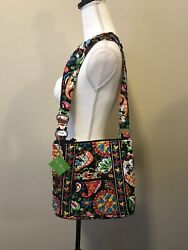 Nwt Disney Vera Bradley Midnight With Mickey Mouse Large Hipster Crossbody Purse