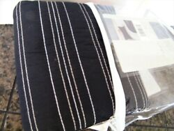 Casual Home Standard Size Pillow Sham Black White Stripe Stitching Target New