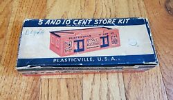 Vintage Plasticville Usa 5 And 10 Cent Store Kit With Box Oands Gauge Scale Cs-5