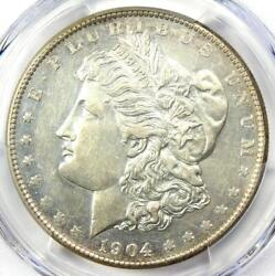 1904-s Morgan Silver Dollar 1 Coin - Certified Pcgs Au Details - Near Ms / Unc