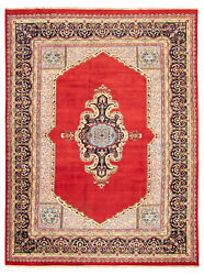 Vintage Hand-knotted Carpet 9and0396 X 12and0397 Traditional Oriental Wool Area Rug