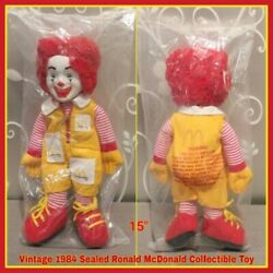 Sealed Vintage 1984 Ronald Mcdonald Collectible Doll