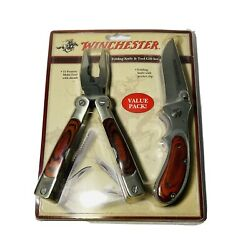 Winchester Big Wood Multi-tool 15 Tools In One W/sheath 22-01346 And Folding Knife
