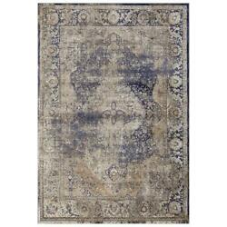 Mda Home Antique 9and039x12and039 Abstract Traditional Fabric Area Rug In Beige/brown