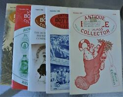 Antique Bottle And Glass Collector 1987-9, 5 Issues