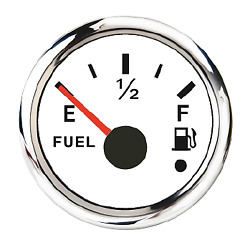 Fuel Level Gauge90-0ohmswhite12v-24voil Tank Level2and039and039/52mmuniversal Style