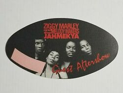 Unused Satin Ziggy Marley And Melody Makers Aftershow Guest Backstage Pass Sticker