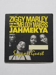 Unused Satin Ziggy Marley And Melody Makers Support Guest Backstage Pass Sticker