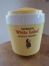 Rare 1970s Retro Dewars White Label Scotch Whisky Ice Bucket Piper And Bagpipes