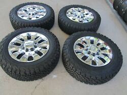 20 Chevy Gmc 2500 3500 Hd Chrome Factory Oem Wheels And Tires 275 65 20 10 Ply