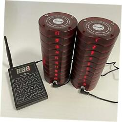 Wireless Paging System 20 Coaster Pagers+1 Keypad Queue Number Call Restaurant