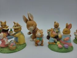 Avon Forest Friends Figurines Mice Bunny Rabbits Easter Mini Figurines Qty 8