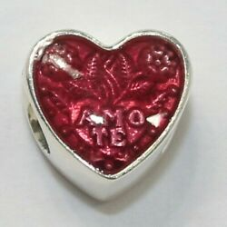 New Authentic Pandora Charm Latin Love Heart Sterling Silver Bead 792048en117