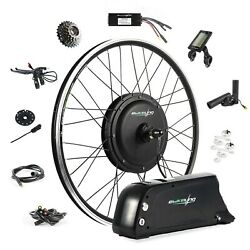 Ebikeling 48v 1200w 700c Direct Drive Front Rear Ebike Conversion Kit W/ Battery