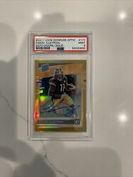 2020 Donruss Optic Rated Rookie Chase Claypool Gold- On Card Auto /10 Psa 9 Pop2