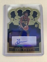 2020-21 Crown Royale James Wiseman Auto Ssp 02/10 Sweet Card Invest Now