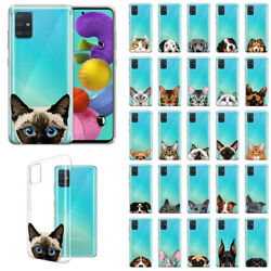 For Samsung Galaxy A51 A515 2019 6.5quot; Animal TPU Clear Silicone Case Cover