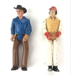 Lot Of 2 1979 Tonka Toys Play People Action Figures - Rodeo Cowboy And Mechanic