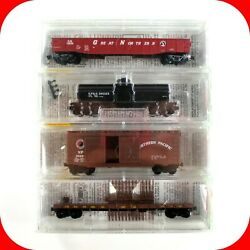 N Scale Fallen Flags 5 Gn Spands Np Cbandq, Bn Merger 4-pack Set Micro Trains 23252