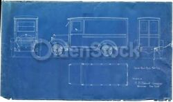 Hh Babcock Truck Design Watertown Ny Antique Automobile Blueprint Poster 1922
