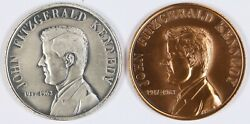 Capitol Medals Inc John F Kennedy Jfk Bronze And Silvered Bronze Quote Medals 39mm
