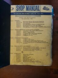 The Galion Iron Works And Mfg Company Shop Manual. Industrial Manuals. Galion Ohio