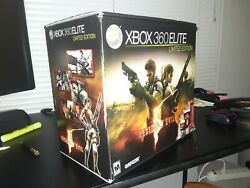 New Xbox 360 Elite Limited Edition Red Resident Evil 120gb Console System Bundle
