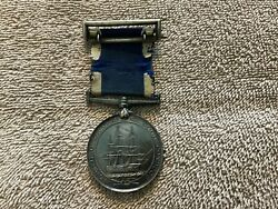 Victorian Silver Naval Medal Long Service Good Conduct
