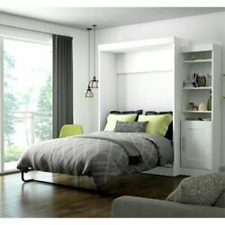 Atlin Designs Full Wall Bed With Storage In White