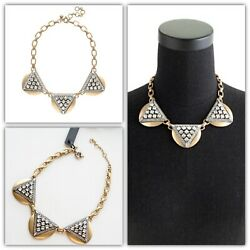 J.crew Crystal Triangle Statement Necklace Nwt
