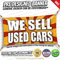 We Sell Used Cars Advertising Vinyl Banner Sign No Cheap Flag