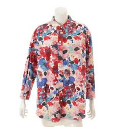 Authentic 99c Total Pattern Shirt Blouse P12336 Multicolor Size 38 Used