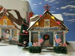 Dept 56 Snow Village The Patriot House Hard To Find, 4th Of July Fourth