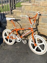 1996 Dyno Compe Custom Just Orange With New White Skyway Tuff Mags And Decals