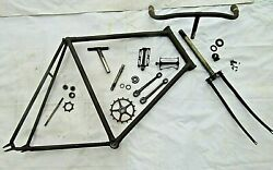 Turn Of Century Columbus Bicycle No.10 Large Frame And Parts, Pitted All Over