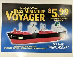 Hess Ltd Ed Miniature Voyager Gas Station Store Sign Vintage Ad Display Poster