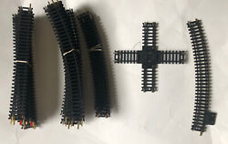 """Vintage Lot Of 40 Ho Tyco Atlas Track Pcs 22"""" And 18"""" Right/straight/switch/cross"""