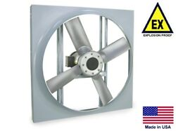 Panel Axial Exhaust Fan - Explosion Proof - 24 - 230/460v - 3/4 Hp - 6940 Cfm