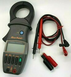 Blue Point Tools Multi Meter Digital Clamp W/ Leads And Clips Electrical Tester