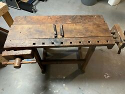 C. Christiansen Cabinet Maker Work Bench Antique Early 20th Century
