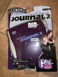 Girl Tech My Password Journal 2 Electronic Voice Activated Diary 2001 New Rare