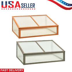 Solid Firwood Greenhouse Garden Outdoor Planter Building Cold Frame Accessories