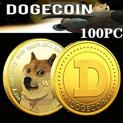 Gilded Dogecoin Limited Edition 100pc Gold Doge Coin Collectible Commemorative