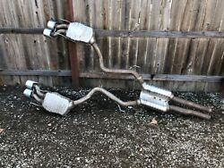 2007_2010 Mercedes W221 S63 Amg Rear Muffler Mufflers Exhaust With Tips Oem